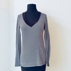 6316033166a Women s Brown Splendid Striped Top on Poshmark
